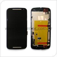 Οθόνη με Touch Screen & Μπροστινή Πρόσοψη Motorola XT1064 Moto G 2014 2nd gen Μαύρο