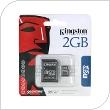 Κάρτα μνήμης Micro SD Kingston 2Gb + 1 ADP