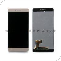 Γνήσια Οθόνη με Touch Screen Huawei P8 Χρυσό