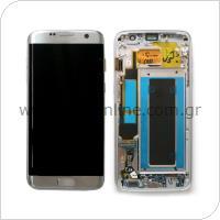 Γνήσια Οθόνη με Touch Screen Samsung G935 Galaxy S7 Edge Ασημί