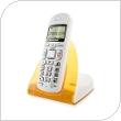 Ασύρματο Τηλέφωνο Grundig ELYA ECO Λευκό-Πορτοκαλί