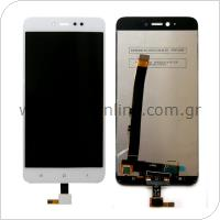 Γνήσια Οθόνη με Touch Screen Xiaomi Redmi Note 5A Prime (Dual SIM) Λευκό